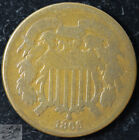 1866 Two Cent Piece, Good Condition, Civil War Era, Free Shipping in USA, C5479 for sale