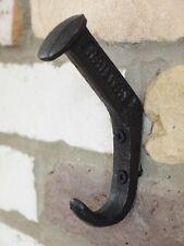 6x antiguos de hierro fundido Ganchos De Pared Colgante Perchero un transporte ferrocarril británico