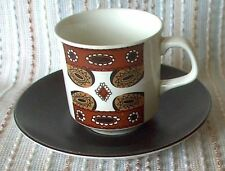 J&G Meakin Maori COFFEE CUP DUO, 1966, Retro, vintage, shabby chic
