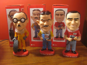 Rare Limited first edition Pep Boys bobblehead set of Manny Moe Jack