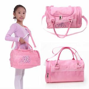 Girls School Shoulder Bag  Gymnastics Handbag Tote Dance Duffle Bag Ballet Kids