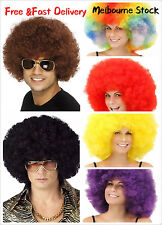Deluxe Adult Mens 70's 50's Funky Afro Wig Disco Fancy Dress Costume 11 Colours