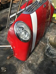 2001-2006 Mini Cooper ONE Bonnet With Hinges And Headlights Red