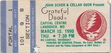 GRATEFUL DEAD TICKET STUB 03-15-1990  CAPITAL CENTRE **MAIL ORDER**