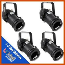 4x Black Pulse PAR16 Birdie Can 230v Parcan Lantern DJ Stage Spotlight