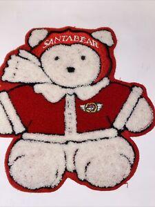 """Dayton Hudson Original """"Santa Bear"""" 1987 Sewn Embroidered Patch Large 8"""""""