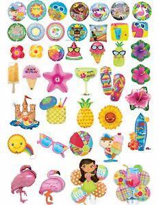 Tropical Luau Summer Helium Balloons Beach Party Ware Decoration CTI & Boland