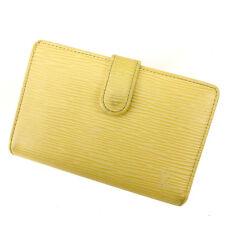 Louis Vuitton Wallet Purse Coin purse Epi White Woman Authentic Used Y1037