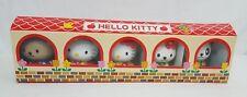 Vtg Sanrio HELLO KITTY & MIMMY & Friends Plastic MASCOT Coin Bank Set RARE NEW