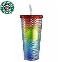 China Starbucks Rainbow Bling Shinning Diamond Studded Tumbler Straw Cup 2021