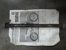 Husqvarna Vintage 86 XC250 CR 250 Front Axle With Nuts Husky