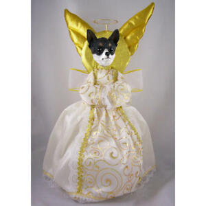 Chihuahua Black & White Angel Tree Topper