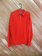 Abercrombie & Fitch Polo Shirt Long Sleeve Button Neck Henley Men's Red Sz 2XL