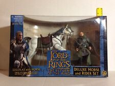 LEGOLAS WITH DELUXE HORSE & RIDER LORD OF THE RINGS RETURN OF THE KING SET RARE