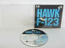 PC Engine SCD HAWK F-123 NO Back sheet ref/663 pe