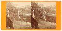 Cascade Da Gavarnie Francia Foto Viron Stereo PL56L2n Vintage Albumina