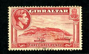 Gibraltar 1938 1 1/2d red very fine used Perf 13.5 SG 123a Cat £18