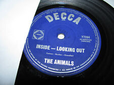 """The Animals : Inside-Looking Out / Outcast 7"""" 45 Single - 1966 Decca"""