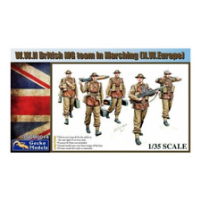 Gecko Models 35gm0014 1/35 WWII British MG Team Marching NW Europe