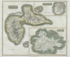 Antigua, Guadeloupe & Marie-Galante. West Indies Caribbean. THOMSON 1830 map