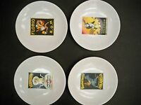 4 POTTERY BARN VINTAGE COCKTAIL PLATES