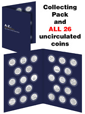 2019 UK A-Z 10p Complete Set - 26 Uncirculated Coins in Collecting Pack