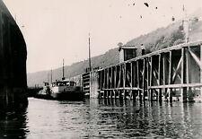 Ecluse de CHARTRETTES c. 1950 - Péniches Canal - DIV 3509