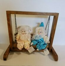 Classic Treasures - Katlyn & Carletta Clowns With A Wooden Swing