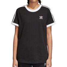 Adidas Originals Trefoil Three Stripes Women's T-Shirt Black/White cy4751