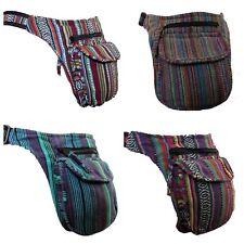 Large Pocket Canvas Bum Bag Utility Belt Money Fanny Pack Festival Hippy Boho