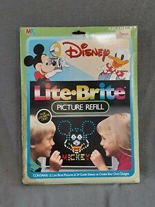 Vintage Lite Brite Picture Refill Disney ☆6 unused stencils☆