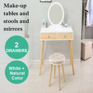 Dressing Table With Mirror Stool Jewellery Organizer Makeup Cabinet Drawer Desk
