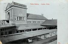 Vintage Postcard Union station Omaha Ne Nebraska Train Railroad