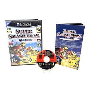 Super Smash Bros Melee (Nintendo GameCube 2001) CIB Complete in Box Tested Mario