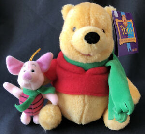 """Winnie the Pooh & Piglet Plush Gund 100 Acre Collection 7"""" Fast"""