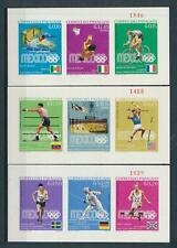 [105565] Paraguay 1969 Olympic Games Gold medal winners 3 Souvenir Sheets MNH