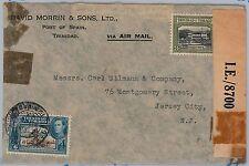TRINIDAD & TOBAGO postal history  - AIRMAIL COVER  to USA - CENSURE