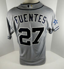 2014 San Diego Padres Reymond Fuentes #27 Game Issued Grey Jersey JC Patch