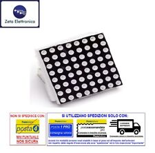 DISPLAY LED A MATRICE 8 X 8 PUNTI DOT MATRIX ROSSO ANODO COMUNE 24 PIN A 64 LED