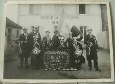 CESSET (Allier) ancienne photographie groupe de conscrits classe 1924
