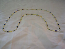 Stunning and Delicate 18k Yellow Gold and Sapphire Necklace-Very Beautiful