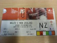 25/11/2006 Wales v New Zealand [At Millennium Stadium Cardiff] [Rugby Union Tick