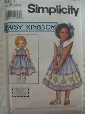 Vtg Simplicity Daisy Kingdom Dress Sewing Pattern 8677 Bonus Doll Pattern Sz 5-8