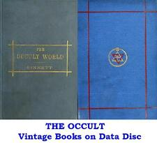 Occult Science Collection 23 Vintage Books on Data Disc Theosophy Agrippa Sinnet