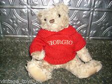 GIORGIO BEVERLY HILLS COLLECTORS TEDDY BEAR STUFFED ANIMAL BROWN PLUSH 1995 RARE