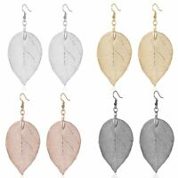 Long Leaf Dangle Drop Earrings Women Girls Big Statement Fashion Jewelry Gift