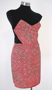 NEW! Bluejuice Black and Red Strapless Dress Size 12