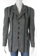 STYLISH NEW HERRINGBONE WOOL & SATIN JACKET BY JEAN PAUL GAULTIER FEMME