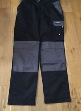"""Dassy Boston Two Tone Work Trousers With Knee Pad Pockets Black And Grey 35"""""""