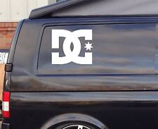 2x Extra Grande Dc Shoes Surf Funny car/window Vw Euro Vinilo Autoadhesiva De 35cm